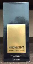 Bath & Body Works Midnight Men's Signature Cologne 3.4oz / 100ml New In Box