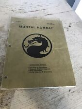 Midway Mortal Kombat Arcade Manual