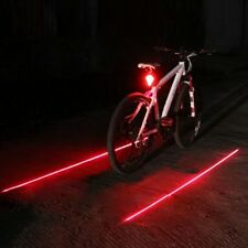 2 Laser Beam 8 LED Rear Tail Safety Flashing Light for Cycling Bike MTB Bicycle