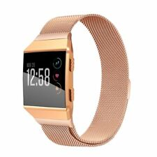 Fitbit Ionic Rose Gold Replacement Band Milanese Wrist Stainless Steel Large