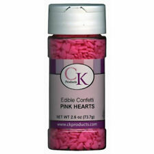Pink Hearts Valenine Edible Confetti Sprinkles from CK #11105