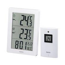 Hama EWS-3000 Weiss Funk Wetterstation mit Außensensor Wecker Funkuhr Uhr 50m