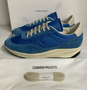 Common Projects Track Classic Suede & Ripstop Sneakers Blue 11 UK 45 EU New Box