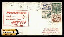 Dr Who 1961 Chile First Flight Panagra Santiago To Miami Fl Usa f58427