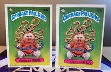 PAIR OF GARBAGE PAIL KIDS WRIGGLEY RENE & CURLY CARLA 1986 103A & 103B