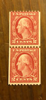 US Stamp # 488 Mint OG LH $45 Joint Line Pair Washington
