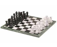 "18"" Black & White Marble Chess Game 32 Piece Set 4"" King New"