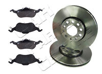 FOR FORD FOCUS MK1 FRONT BRAKE DISC ROTORS & PADS 258mm DIAMETER 1998-2004
