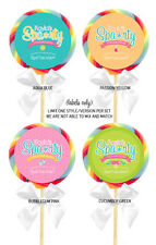12 Spa Party Birthday Shower Favors Personalized 2.5 inch Lollipop Stickers