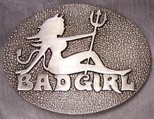 Pewter Belt Buckle novelty Bad Girl NEW