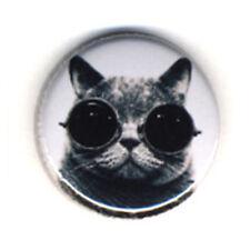Badge CHAT à LUNETTES funny cat kawaii cute animal Rock hype culte pop Ø25mm