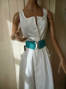 True vintage ,Designer, White cotton 1980s  dress 8
