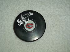 Peter Budaj Hand Signed Montreal Canadiens Logo Puck NHL Autograph