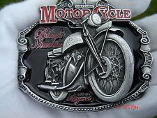 Vincent black shadow motorcycle belt buckle classic bike
