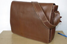 Office, Laptop, Messenger, Satchel Classic Business Smart Real Tan Leather Bag