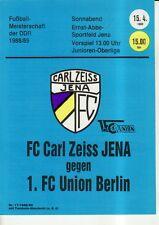 OL 88/89 FC Carl Zeiss Jena - 1. FC Union Berlino, RS-A