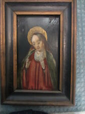 old oil painting on wood panel  vlaams flemisch religious 15th century holy