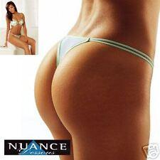 Nuance * 2x String * weiss-grün * 40/42 * sexy* aus Polyamid und Elasthan