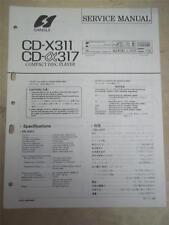 Sansui Service Manual~CD-X311/317 Compact Disc Player~Original~Repair