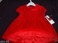 Tommy Hilfiger Valentine's Day Red Velour Dress size 3-6 months New tag
