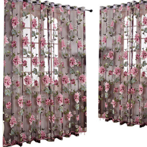 Glass Door Decorative Curtain Curtain Tulle With Lace Pendant Window Drape Sheer