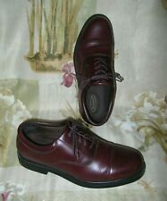 ROCKPORT Mens Size 10.5W  M4347 Brick Brown Leather Casual Durby Cap Toe Oxford