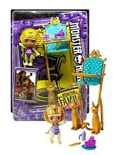 "Monster High Monster Family of Cleo De Nile Sandy De Nile 2.5"" Doll New in Box"