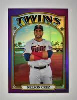 2021 Heritage Base Chrome Hot Box Purple #307 Nelson Cruz - Minnesota Twins