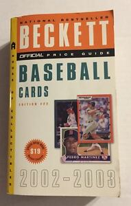 """VINTAGE """"THE OFFICIAL BECKETT PRICE GUIDE TO BASEBALL CARDS"""" 2002-2003 (USED)"""