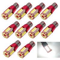 10Pcs T10 LED 57SMD Car Canbus Error Free Wedge Light Bulb Lamp 501 194 W5W 3014