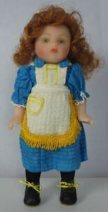 Unusual Poured Wax Artist Doll, One of a Kind, Clog Dancer Wendy, 8 inches tall