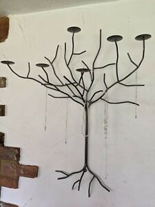 Beautiful Heavy Metal Wall Art Candle Sconce