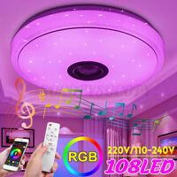100W Starlight RGBW LED Music Ceiling Light bluetooth Speaker Down Lamp+Remote