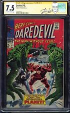 DAREDEVIL #28 CGC 7.5 OWW PAGES SS STAN LEE SIGNED CGC #1227701017