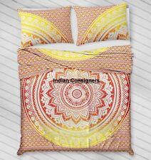 Bright Quilt Cover Mandala Ethnic Bedspread Queen Duvet Doona Set Pillow case