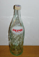 ancien vintage BOUTEILLE soda 1 litre PEPSI COLA old bottle ALTE FLASCHE coca