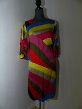 Neues STEFFEN SCHRAUT Kleid mit Volant-Ärmeln Gr 36 Grafische Bunte Farben