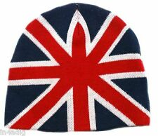 Union Jack Flag Knitted Beanie Hat