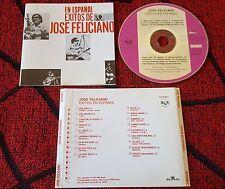 JOSE FELICIANO **Exitos En Español** VERY SCARCE 1991 Spain PROMO CD