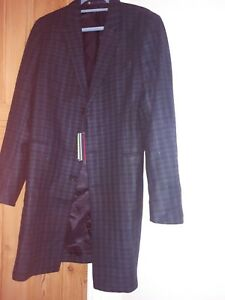 Paul Smith Green Tartan Check Mens Coat Size L rrp £445