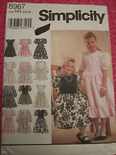 SIMPLICITY 8967 GIRLS' DRESS WEDDING SPECIAL OCCASION SEW PATTERN 3-4-5-6 UNCUT!