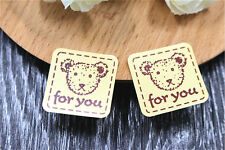 96 x FOR YOU teddy bear stickers gift label seal favours Bonbonniere