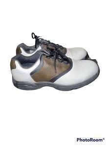 FootJoy Mens GreenJoys Spiked Golf Shoes FJ 45516 11 M Brown White Minimal Wear