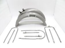 NEW BSA M20 FRONT AND REAR MUDGUARDS WITH COMPLETE STAY KIT (CODE485)