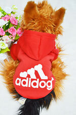Hot Pet Clothes Lovely Dog Puppy Warm Sweater Hoodie Coat Jacket Costume Red M