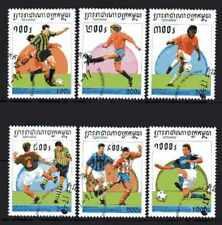 Football Cambodge (32) série complète 6 timbres oblitérés