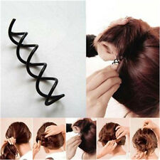 Hair Styling 10pcs Spiral Spin Screw Bobby Pin Hair Clip Twist Barrette Black JE