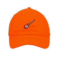 Bass Guitar Embroidered SOFT Unstructured Adjustable Hat Cap