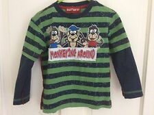 "boys age 3 long sleeve top BHS vgc ""monkeying around"""