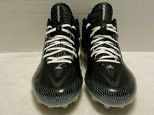 New Mens Adidas Crazyquick Quickframe Low TD Football Cleats White & Black Sz-15